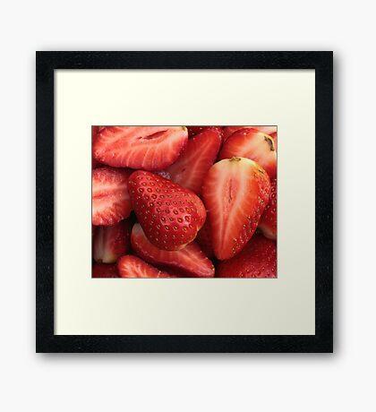 Sliced Strawberries Framed Print