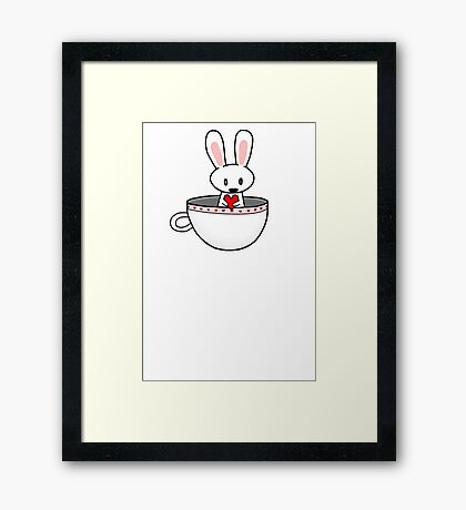 Rabbit In Cup Framed Print