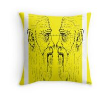 Old men yellow Throw Pillow