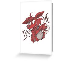 Foxy - It's me Greeting Card