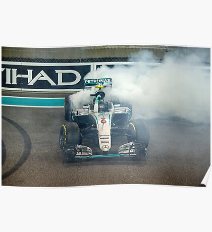 Nico Rosberg Mercedes formula 1 Champion 2016 Poster