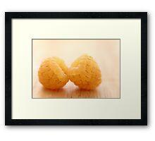 Two Yellow Raspberries Framed Print