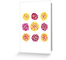 Mixed Rose Flower Pattern Greeting Card