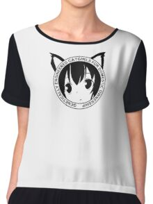 Genetically Engineered Catgirls for Domestic Ownership! (Black) Chiffon Top