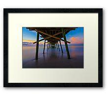 Bogue Inlet Pier at Dawn Framed Print