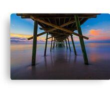 Bogue Inlet Pier at Dawn Canvas Print