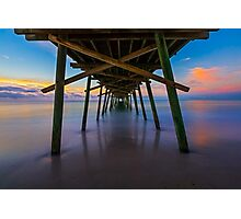 Bogue Inlet Pier at Dawn Photographic Print