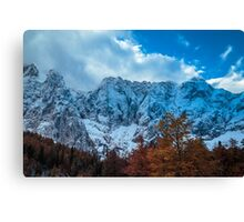 autumn sunrinse in the valley Canvas Print