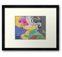 3 layer paint Framed Print