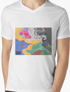 3 layer paint Mens V-Neck T-Shirt