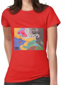 3 layer paint Womens Fitted T-Shirt