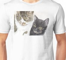 Two cats - tabby and tortie Unisex T-Shirt