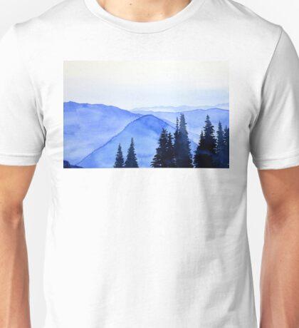 Blue Mountains Landscape Unisex T-Shirt