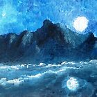 MOON OVER MOUNTAIN  by WhiteDove Studio kj gordon