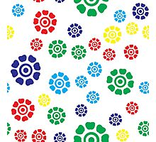 cute seamless colorful floral pattern Photographic Print