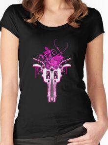 Duel Guns (black) Women's Fitted Scoop T-Shirt