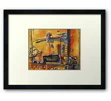 Vintage Train by Chris Brandley Framed Print