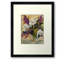 Hydrangeas by Chris Brandley Framed Print