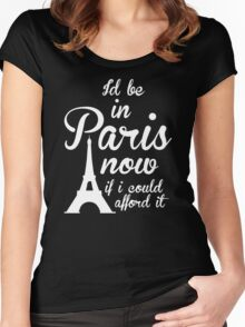 Paris Quotes Women's Fitted Scoop T-Shirt