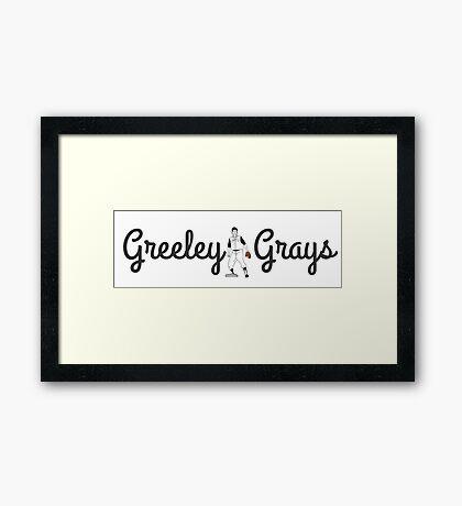 Greeley Grays in Colorado Framed Print