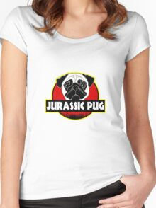 Pug Parody Funny Women's Fitted Scoop T-Shirt