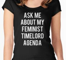 FEMALE TIMELORD Women's Fitted Scoop T-Shirt