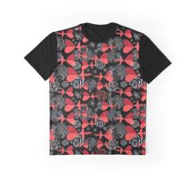 pattern in love birds with hearts Graphic T-Shirt