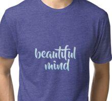 Beautiful Mind Blue Sticker Tri-blend T-Shirt