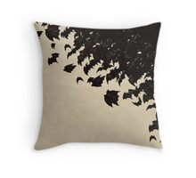 Bat swarm Throw Pillow