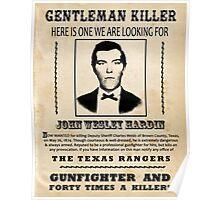 John Wesley Hardin Wanted Poster Poster