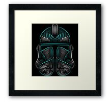 Clone Trooper helmet Framed Print