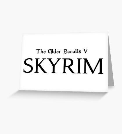 Skyrim Logo Greeting Card