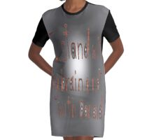 I Stand With My Brain by, Mickeys Art And Design  Graphic T-Shirt Dress