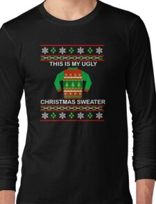 This Is My Ugly Christmas Sweater Shirt - Funny Christmas Long Sleeve T-Shirt