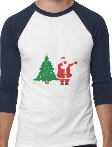 Dabbing Around the Christmas Tree - t-shirt Men's Baseball ¾ T-Shirt