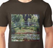 Claude Monet The Japanese Footbridge and the Water Lily Pool Unisex T-Shirt