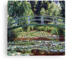 Claude Monet The Japanese Footbridge and the Water Lily Pool Canvas Print