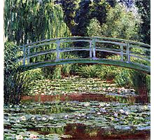 Claude Monet The Japanese Footbridge and the Water Lily Pool Photographic Print