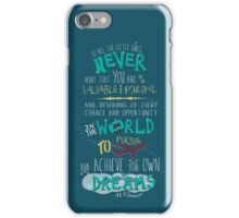 Hillary Clinton Quote - Version 2 iPhone Case/Skin