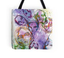 rainbow face collage Tote Bag