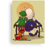 Puppet's love Canvas Print