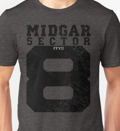 Midgar Sector 8 - Black Edition Unisex T-Shirt