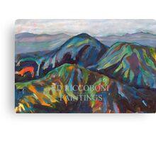San Diego California Mountains By RD Riccoboni Canvas Print