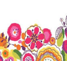 colored flowers Sticker