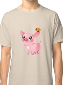 Molly the Micro Pig - Pretty Butterfly Classic T-Shirt