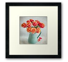 A very beautiful rose bouquet Framed Print