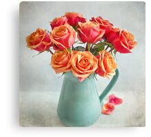 A very beautiful rose bouquet Canvas Print