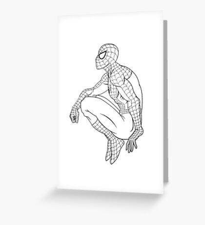 Spiderman Print Greeting Card