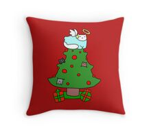 Christmas Tree Cats Throw Pillow