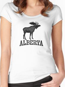 Alberta T-shirt - Moose Women's Fitted Scoop T-Shirt